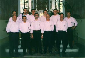Il Coro Vocilassù a Febbio nel febbraio del 1997: è una delle prime immagini del nostro gruppo